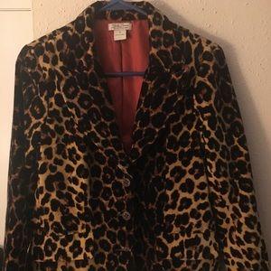 Lucky Brand Leopard Blazer...Medium